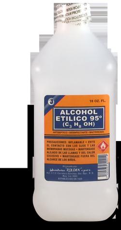 Alcohol etílico 95 grados (C3 H8 OH)